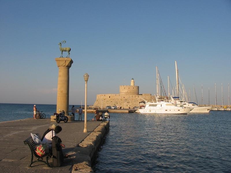 Вход в гавань Родоса