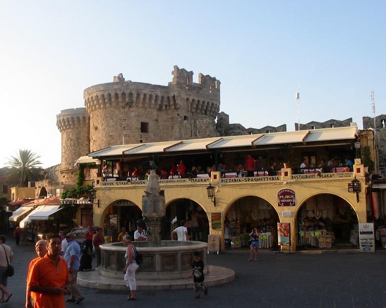 площадь старого Родоса