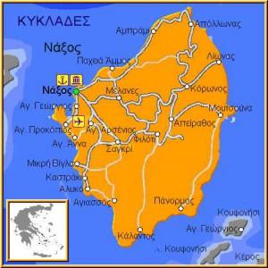 Карта Наксоса