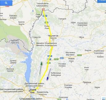 от границы до Киева
