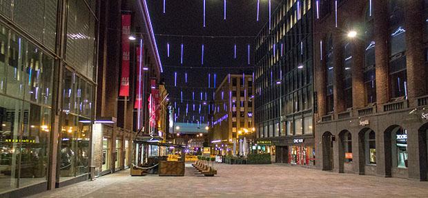 Ночные улицы Хельсинки