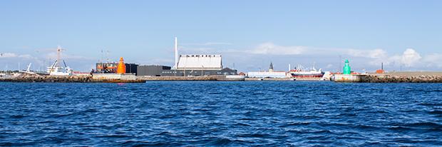 порт Скаген в солнечную погоду