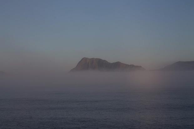 Туман в норвежских фьордах