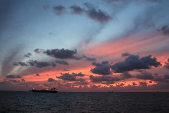 закаты на Северном море