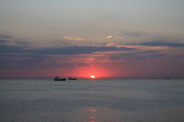 закат в Северном море