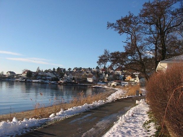 Норвежский посёлок Тофте в Осло-фьорде