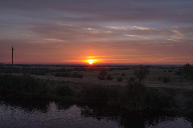 Закат на канале